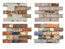 wall tiles brick look porcelain old