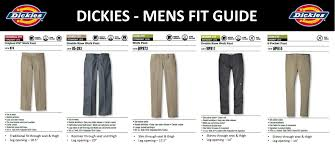 Dickies Size Chart Mens Dickies Fit Guide Billion Creation Streetwear