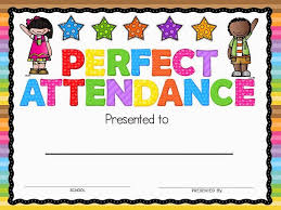 Free Printable Perfect Attendance Certificate Template Fascinating Perfect Attendance Award Classroom Freebies Pinterest