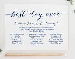 wedding itinerary etsy Wedding Week Itinerary Template Wedding Week Itinerary Template #18 wedding week itinerary template design