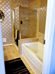bathroom remodel maryland. Fairfax Master Bathroom Remodel - Warm Look With Golden Brown Tiles On Floor And Walls Maryland R
