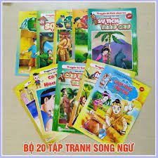 Trọn bộ 20 quyển truyện tranh chữ cổ tích Việt Nam cổ tích nước ngoài khác  nhau đọc trước giờ đi ngủ cho bé trai và bé gái trên 2 tuổi in