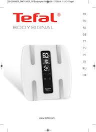 Tefal BodySignal Glass | manualzz.com