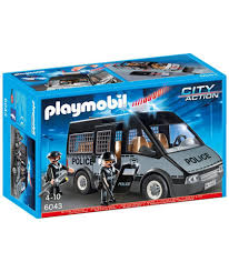 Playmobil City Action Police Van With Lights And Sound 6043 Buy Playmobil 6043 Police Van With Sounds And Lights At