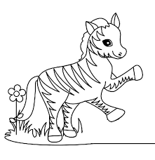 Small Picture Funny Little Zebra Coloring Page Download Print Online
