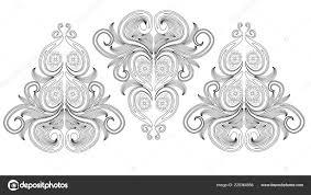 Doodle Floreali Bianco Nero Pagina Libro Colorare Lavoro Molto