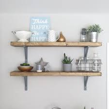 charming rustic wooden shelf chunky scaffold board style applecrate co uk kitchen wall diy australium b q