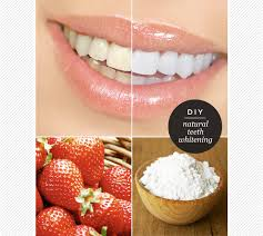 diy natural baking soda strawberry teeth whitening