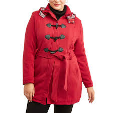 Yoki Size Chart Yoki Womens Plus Size Sherpa Lined Toggle Fleece Jacket With Removeable Plaid Lined Hood