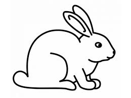 easy rabbit coloring pages for preers printable