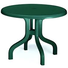 round resin patio table green white plastic patio