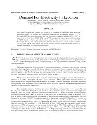 demand for electricity in pdf available