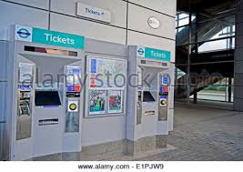 Oyster Card Vending Machine Inspiration Ticket Machines At A Docklands Light Railway DLR Station Stock Photo