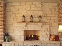 masonry fireplace flush hearth simple mantle home