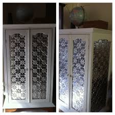 pressed metal furniture. timber cupboard with trellis doors u0026 sides was painted replaced pressed metal panels this is the original design and can be purchased from furniture e