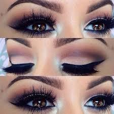 winged eye makeup look for brown eyes