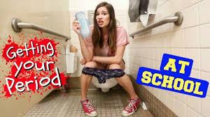Sexy teen girl on period