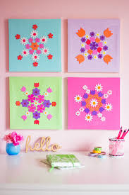 Diy Canvas Art Colorful Diy Flower Canvas Art
