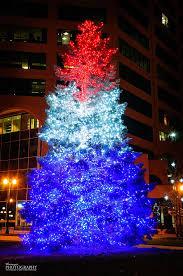 Red, white and blue Christmas tree, Colorado Springs | christmas