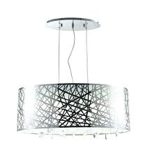 white drum chandelier crystal appealing your home concept shad