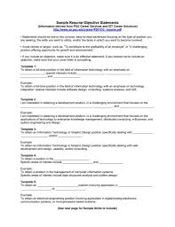 Sample Objective Statements Resume Demire Agdiffusion Examples Of