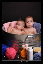 my motto is when all else fails prop them in the tub and i m sure glad we did because i m not sure there s anything cuter than babies in a bathtub