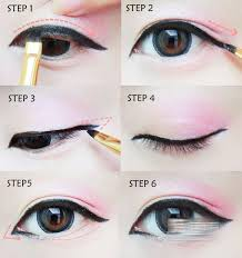 looks easy enough and could be translated to various colours korean make up