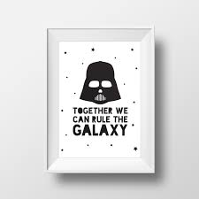 Star Wars Quotes Gorgeous Darth Vader Teen Gift Rule The Galaxy Star Wars Quote Star Etsy
