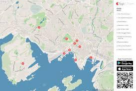 oslo printable tourist map  sygic travel