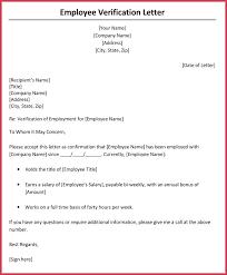 Sample Letter Confirming Employment Sample Letters Employment Letter Verifying Confirming Status