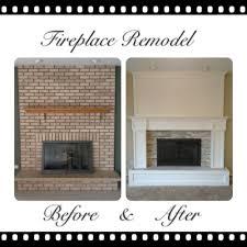 Renovate Brick Fireplace Fireplace Brick Wall Remodel Fireplace Design And Ideas
