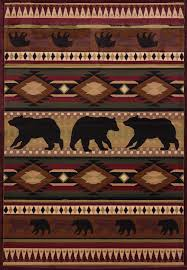 united weavers area rugs contours lodge rugs 512 25859 native bear toffee contours lodge rugs by united weavers united weavers area rugs free