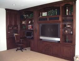 Wall Unit With Desk Home Office And Built In Wall Unit Combination