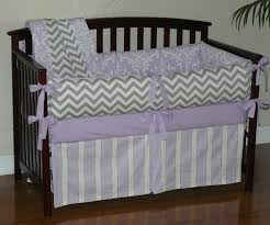 purple chevron baby bedding