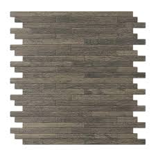 inoxia sdtiles woodly 11 88 in x 12 in self adhesive decorative wall tile