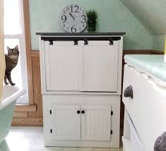 cat litter box furniture diy. We Transformed Two End Tables Into A DIY Farmhouse Style Cat Litter Box Furniture To Conceal Diy