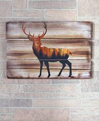deer silhouette wall plaque