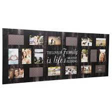 pinnacle family 4 in x 6 in black collage picture frame