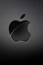 apple logo black grid background iphone