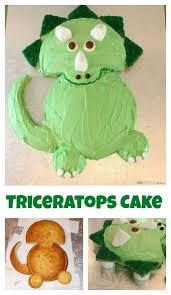 Dinosaur Cake Ideas Easy Triceratops Dinosaur Birthday Cake Recipe