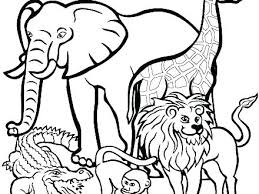 Coloring In Animals Tlalokesorg
