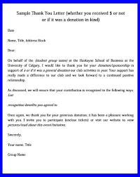 donation thank you letters unique b
