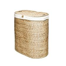 Seville Classics Hand-woven Oval Hyacinth Double Hamper - Free Shipping  Today - Overstock.com - 15516432