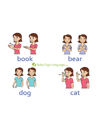 Baby Sign Language Chart Free Basic Baby Sign Language Chart Template Free Download
