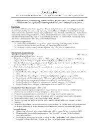 Sample Resume Pharmaceutical Sales Najmlaemah Com