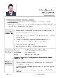 resume for freshers electrical engineers fi international resume format for  electrical engineers fi