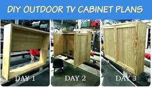 Outdoor Tv Cabinet Plans Furniture S Stand With Doors Stands Weatherproof