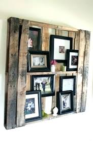multiple image picture frame large wooden