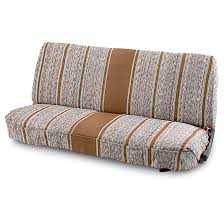 saddle blanket full size bench truck seat cover brown