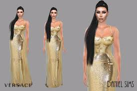 Sims 2 Designer Clothes Downloads Daniel Sims Kim Kardashian In Versace Ts4 Download Real